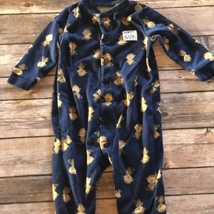 Carter's 0-3 Months Monkey Print Footed Pajamas